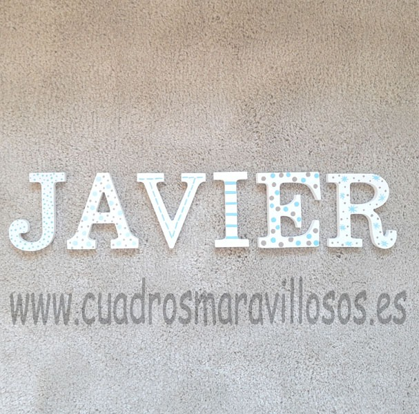 letras infantiles madera javier